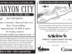 YCS Guided Nature Hikes Miles Canyon & Canyon City - info & map